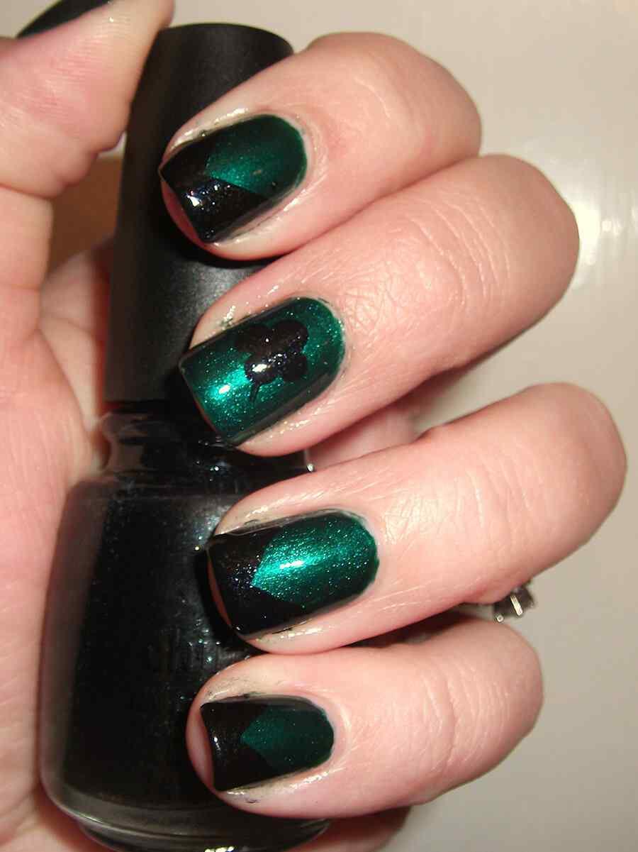 St Patricks Day Nail art (1)