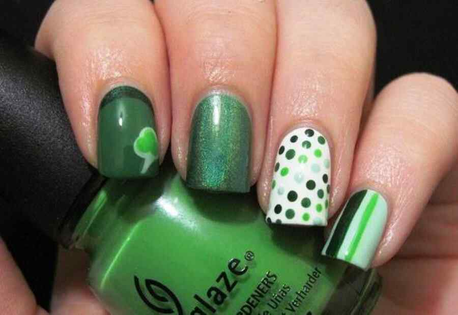 St Patricks Day Nail art (10)