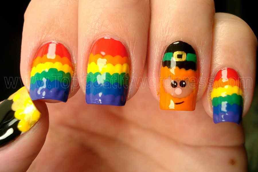 etiquetas st patricks day nail art st patricks nail uñas decoradas de