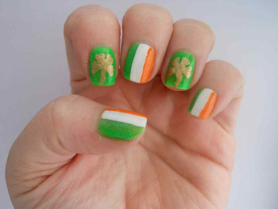 St Patricks Day Nail art (15)