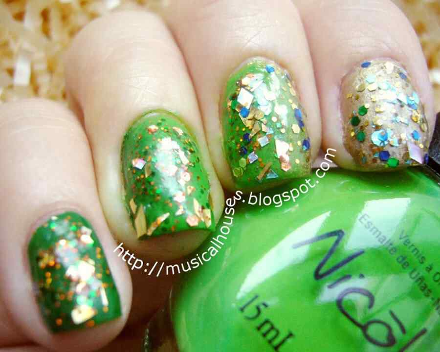 St Patricks Day Nail art (2)
