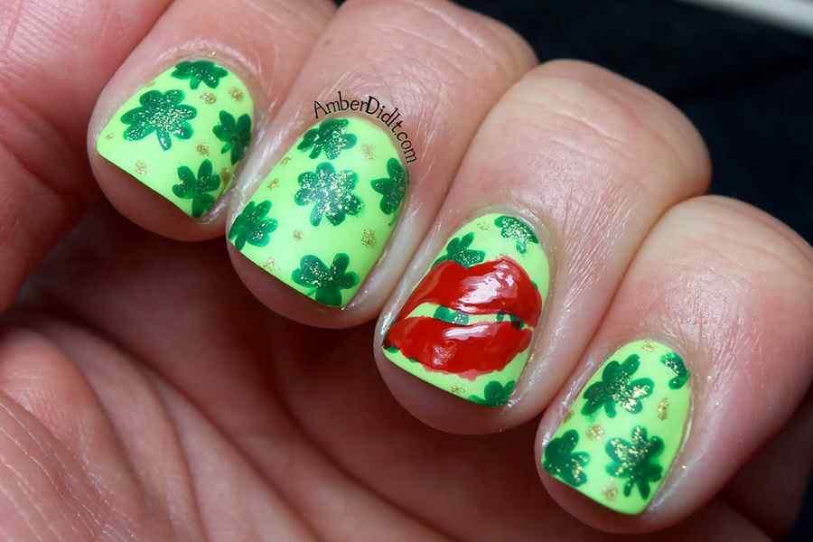 St Patricks Day Nail art (8)