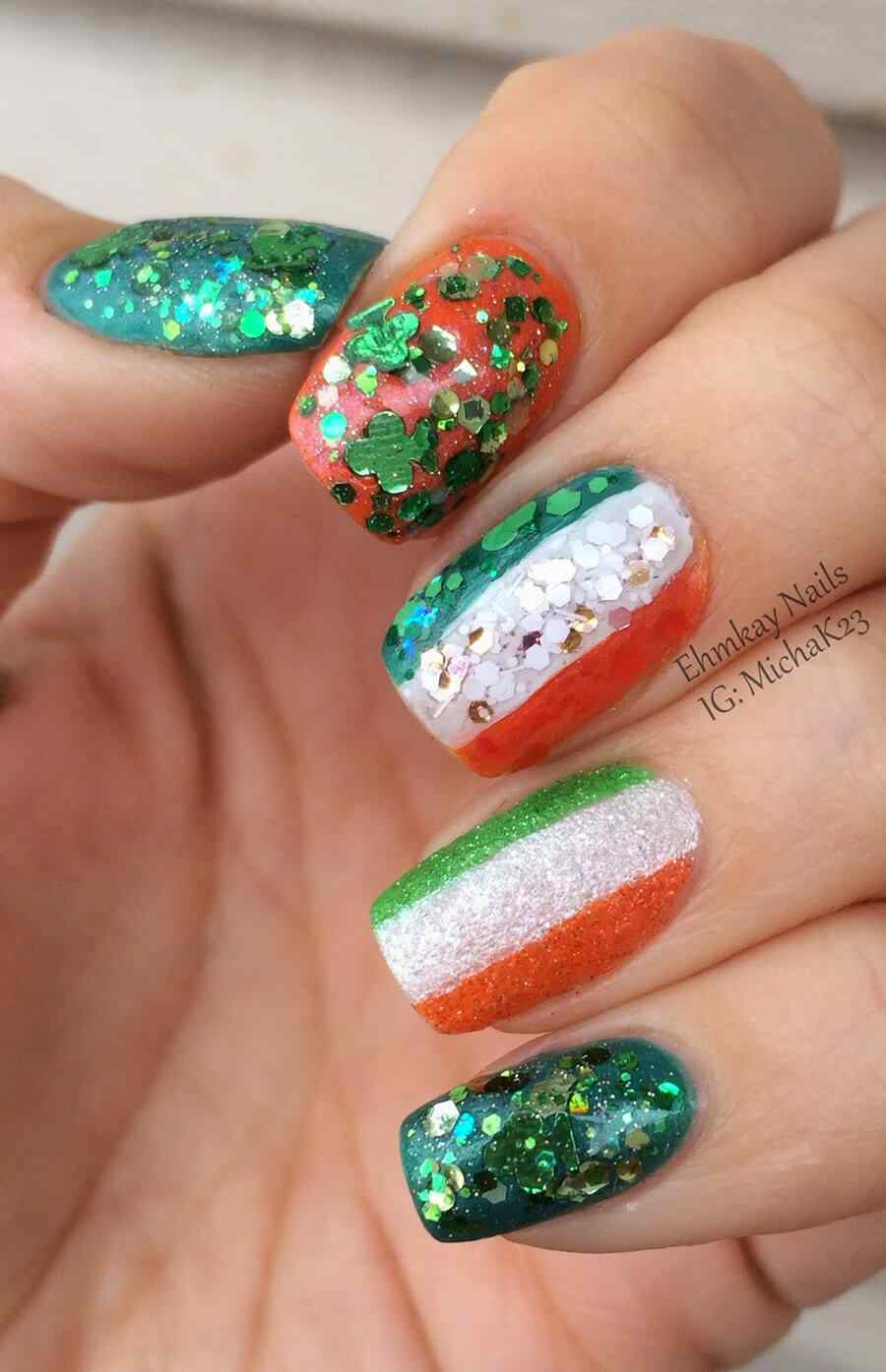 St Patricks Day Nail art (9)