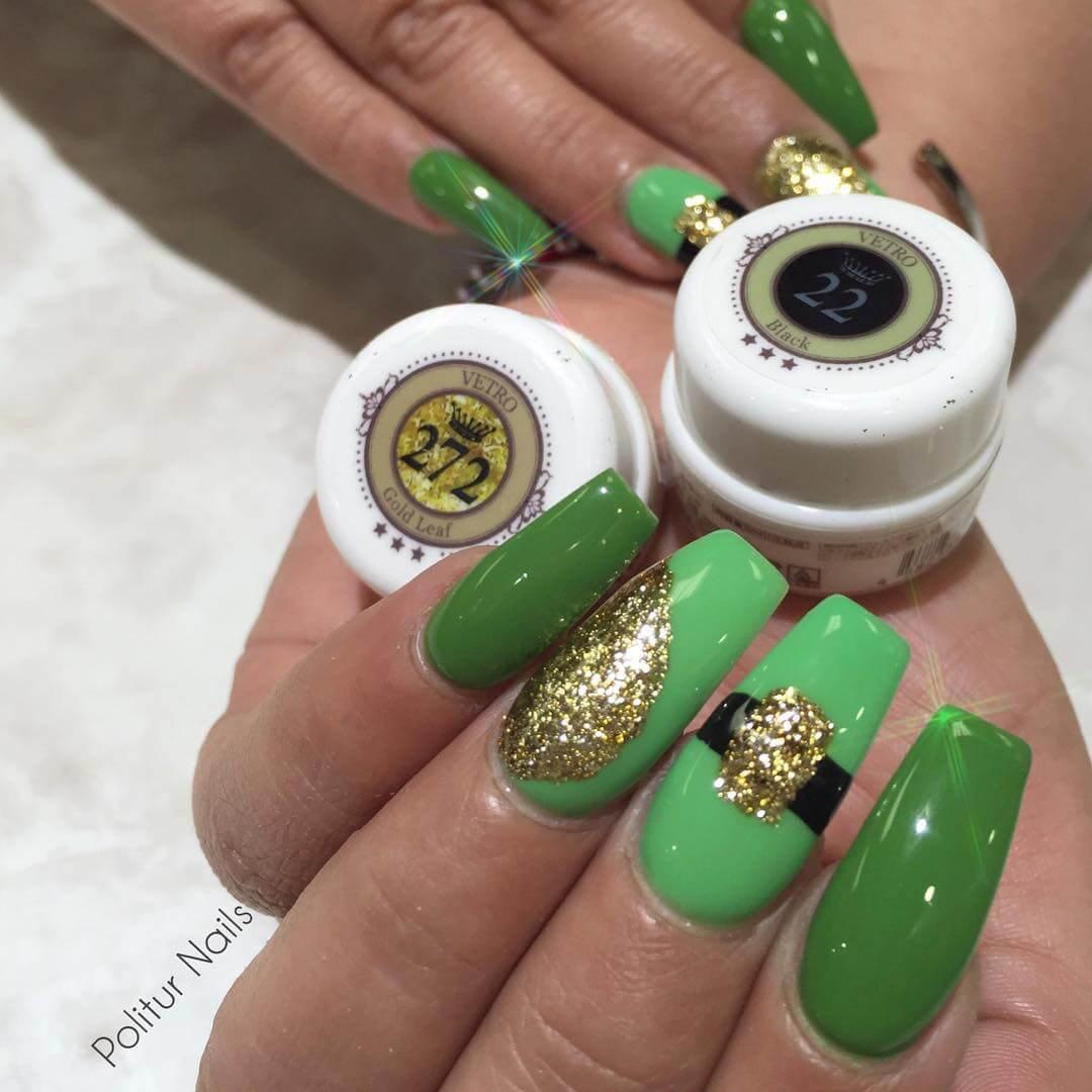 decoracion de uñas de san patricio