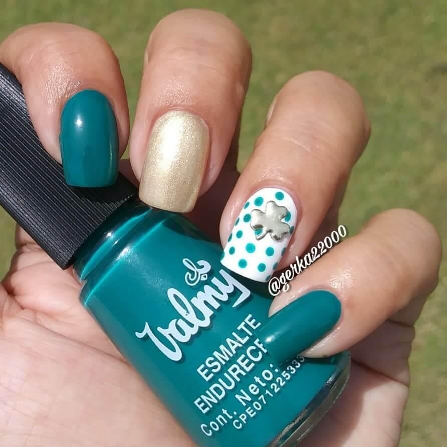 decorado de uñas para san patricio