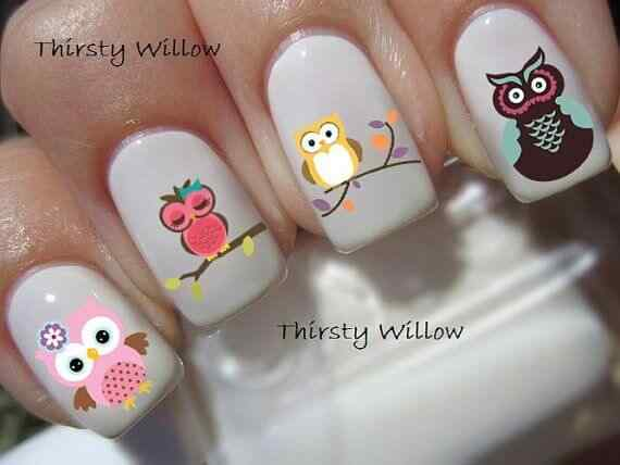 owl nails (5)