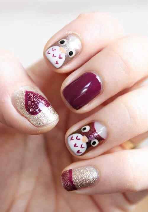 owl nails (6)