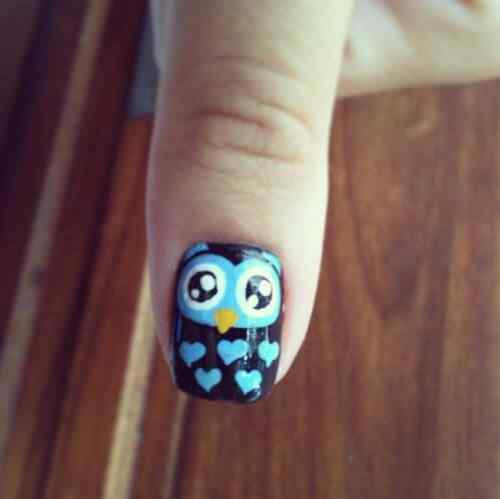 owl nails (8)