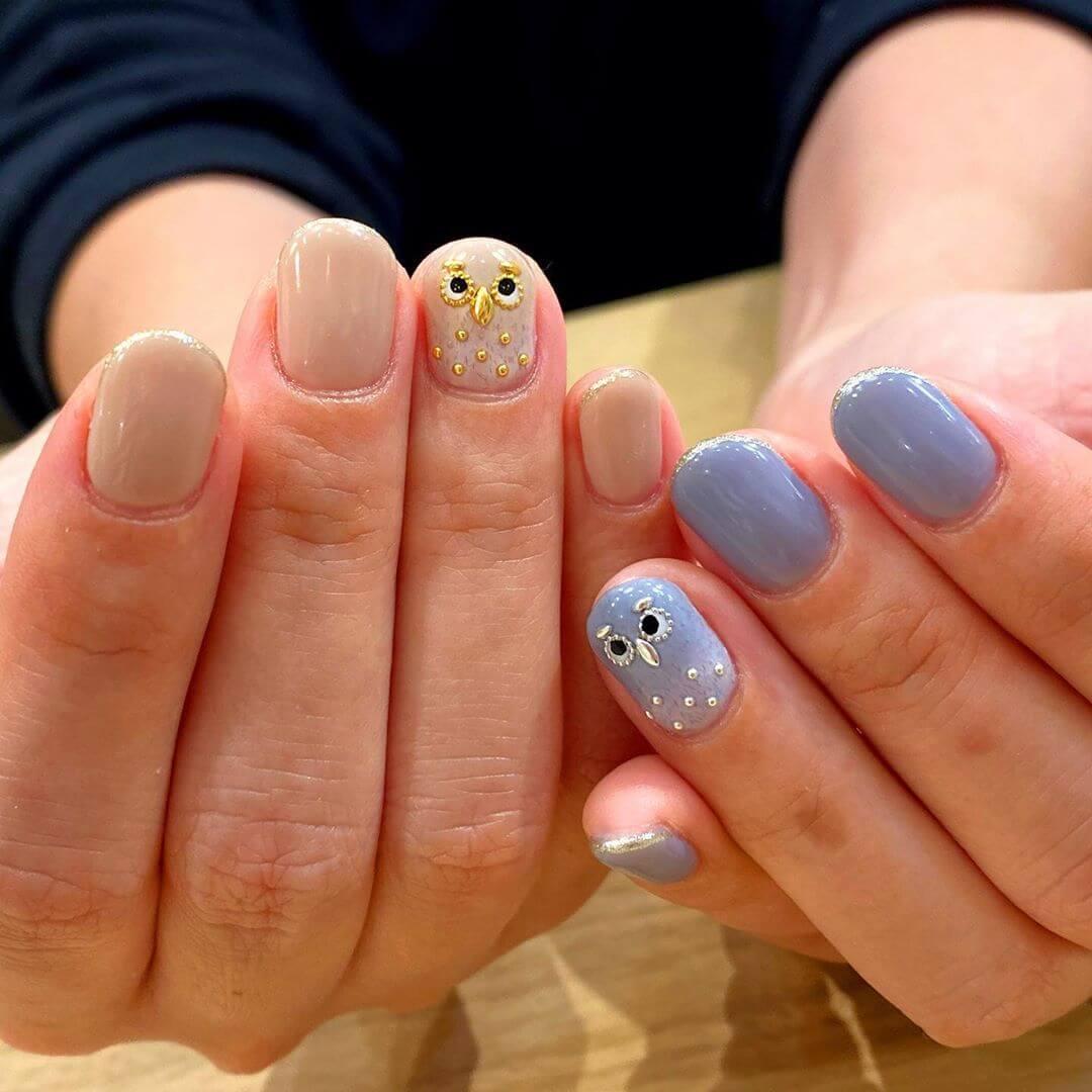 uñas de buhos decoradas
