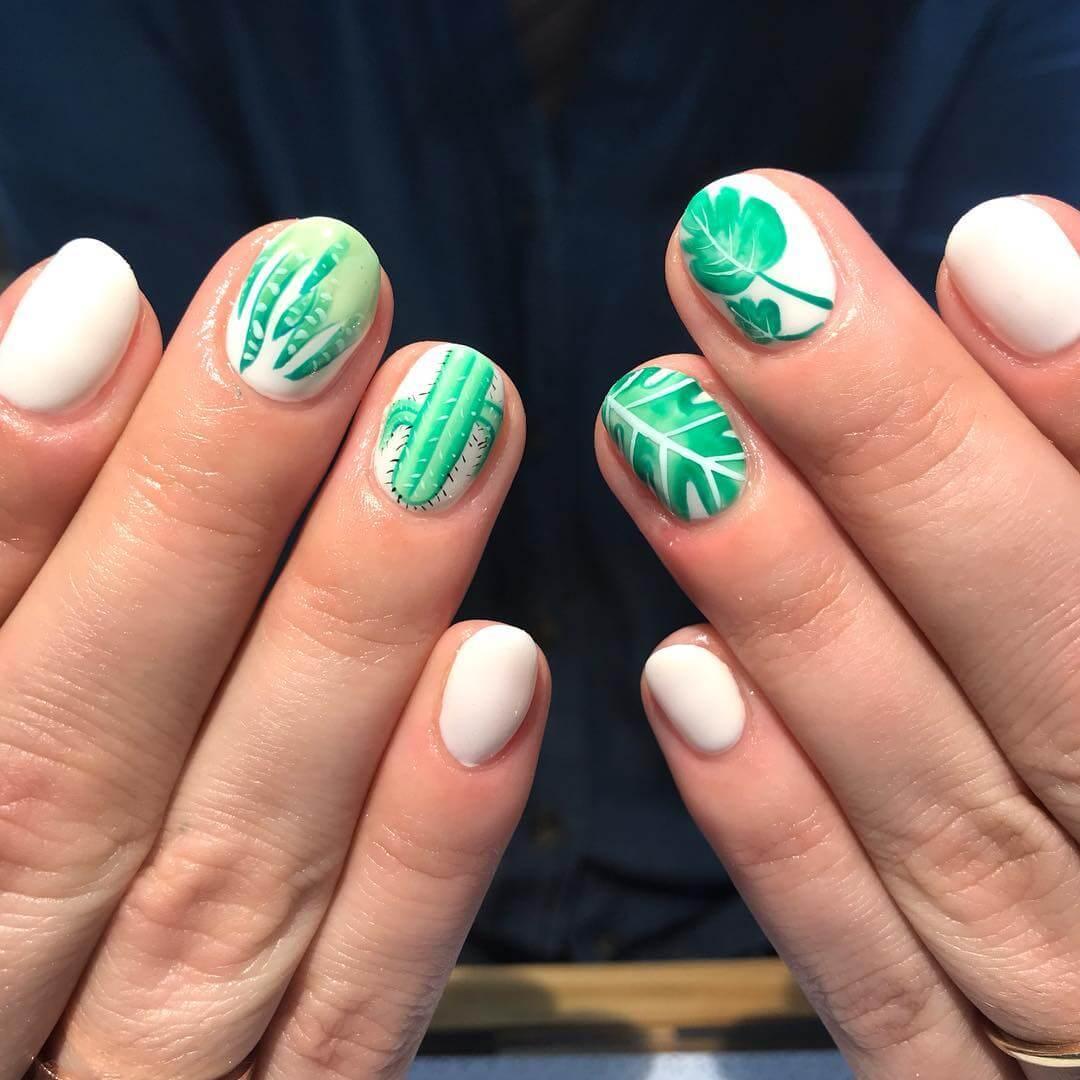uñas pintadas con diseño de san patricio