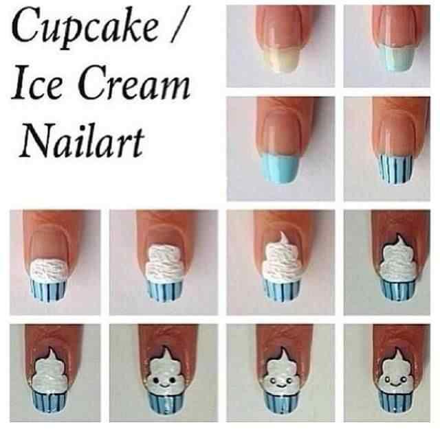 U As Muy Graciosas Con Cup Cake U As Decoradas Nail Art