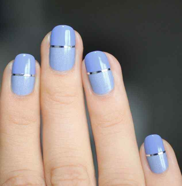 light blue nail images