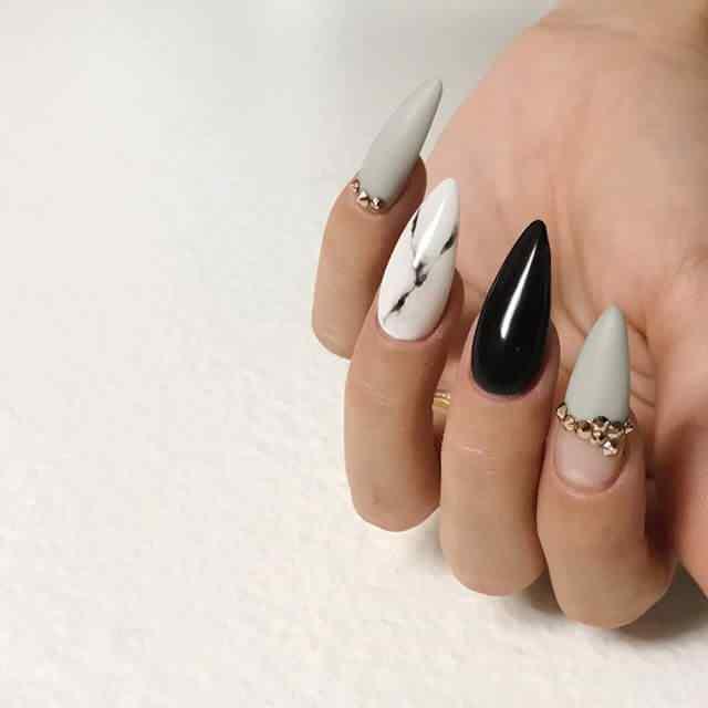 uñas de porcelana decoradas elegantes