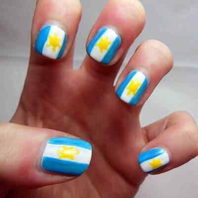 unas decoradas con bandera argentina (4)