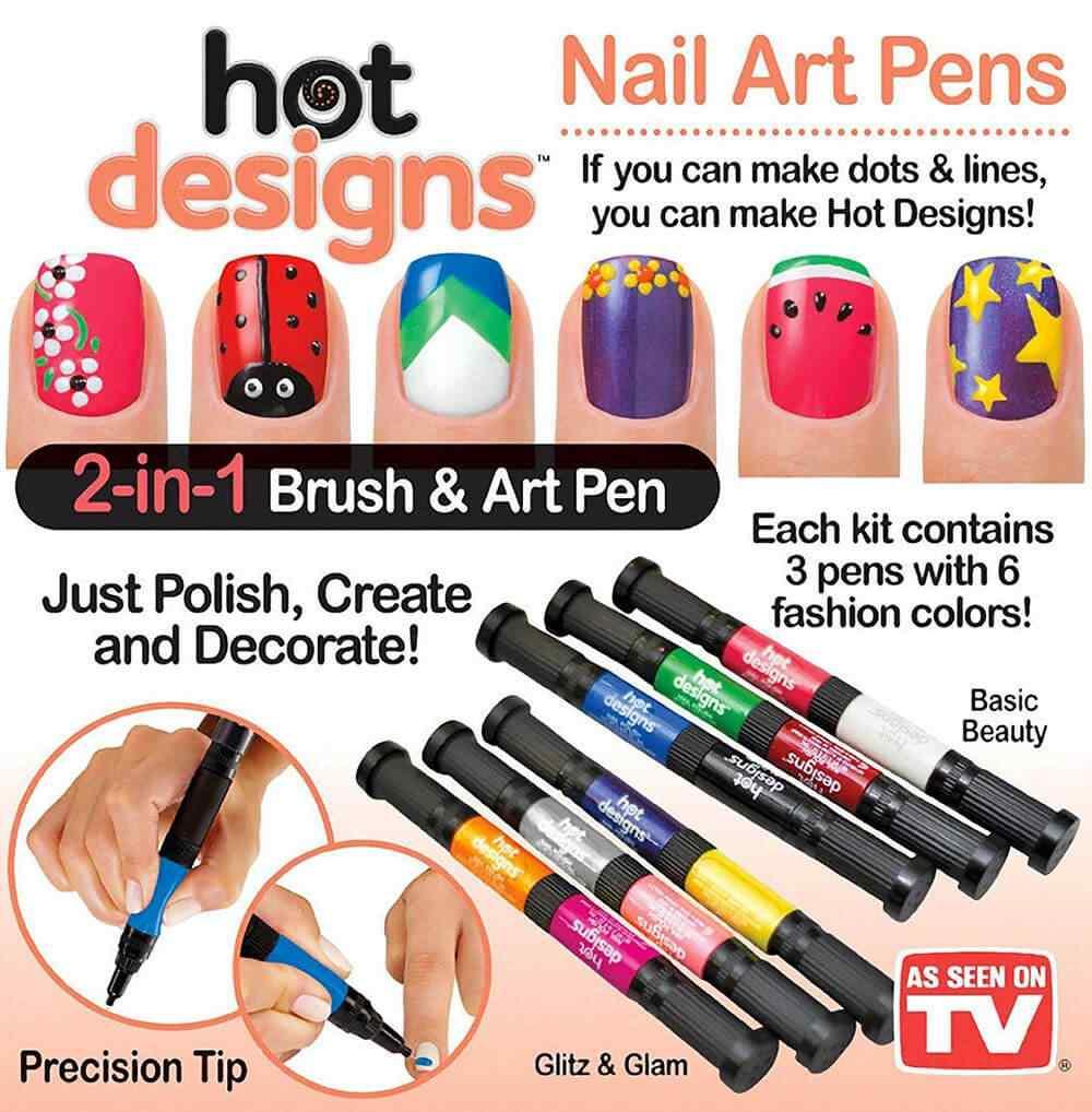Lápices con esmaltes para hacer los nails art más fashion 1