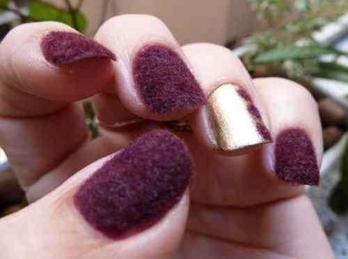velvet nail art (1)