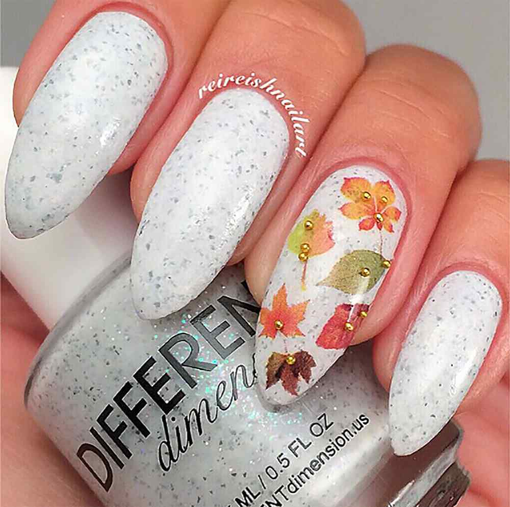 Autumn nail art (1)