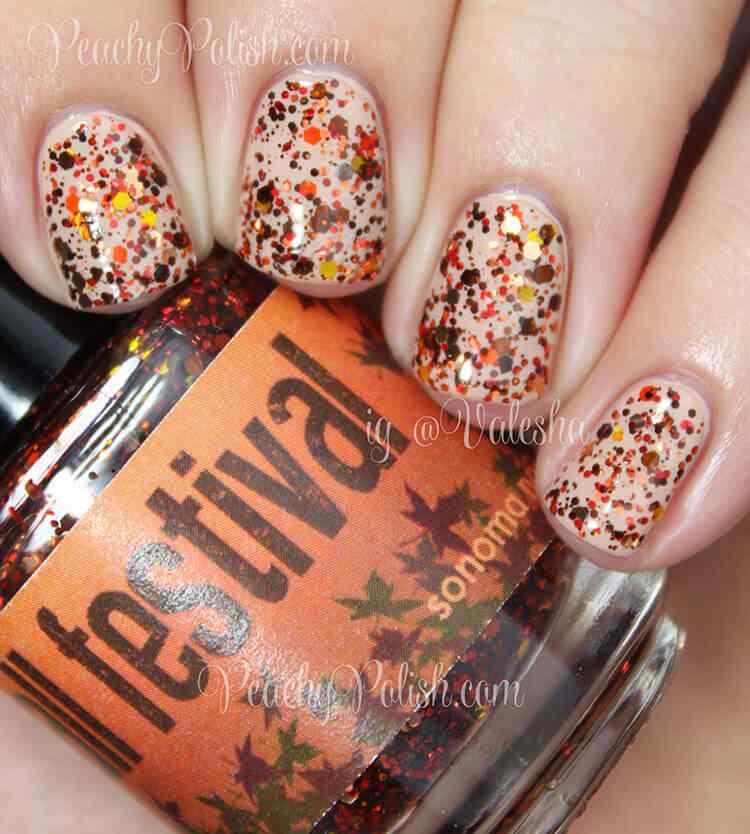 Autumn nail art (2)