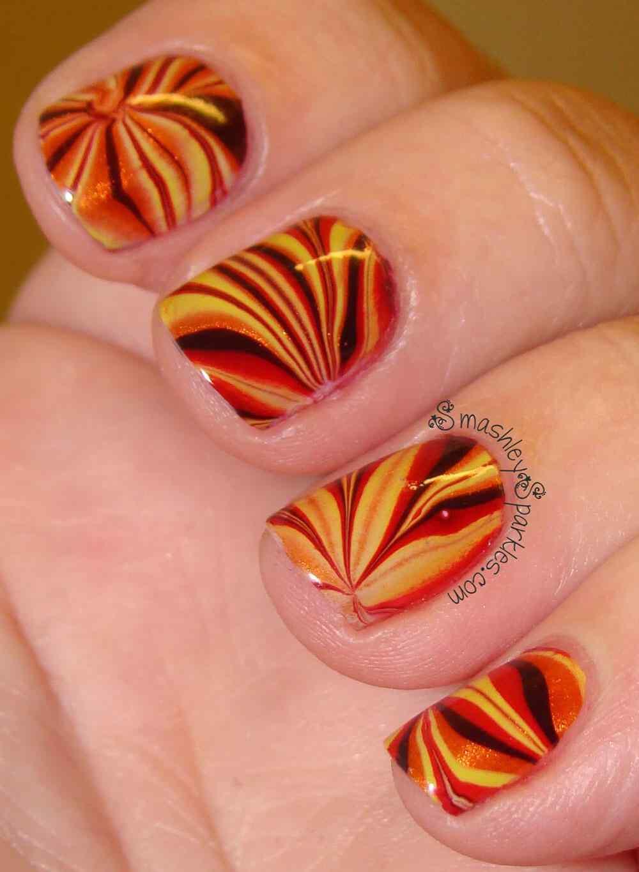 Autumn nail art (3)