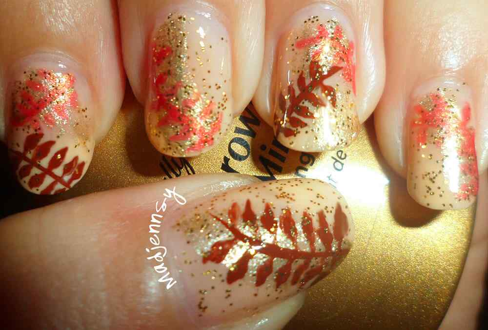 Autumn nail art (5)