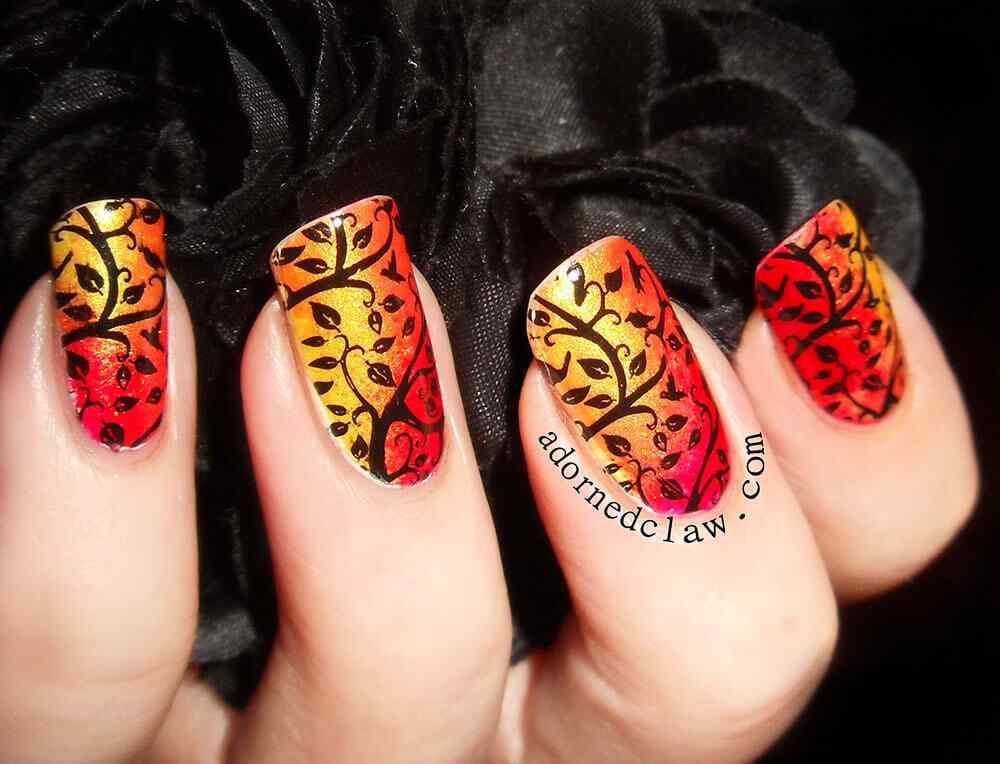 Autumn nail art (6)
