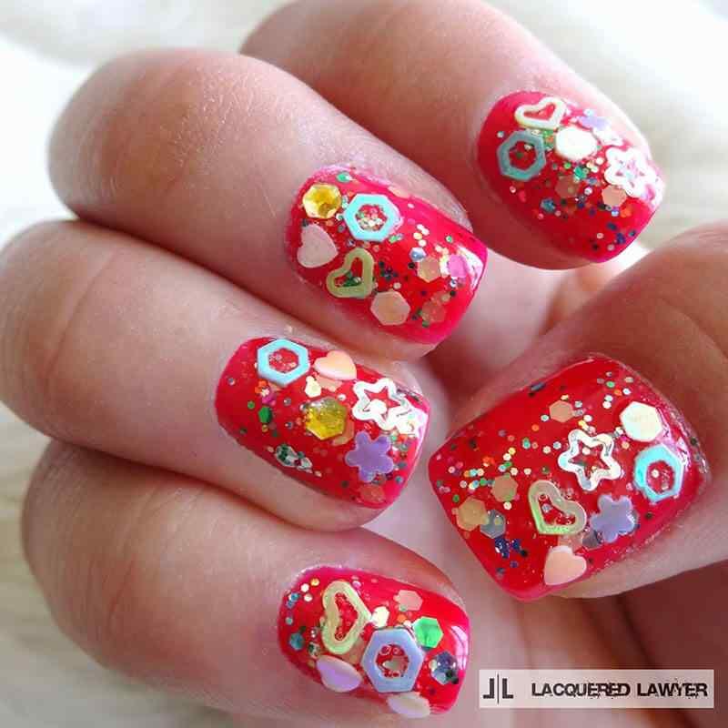 confetti nail art (7)