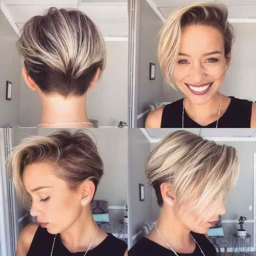 Más de 100 Ideas de peinados y cortes de pelo corto para mujeres 2019 35