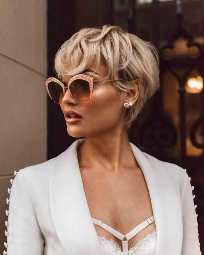 Más de 100 Ideas de peinados y cortes de pelo corto para mujeres 2019 24