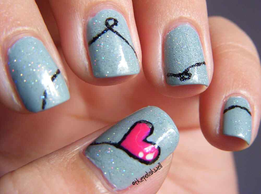 nail art designs 2015 u 209 as de decoradas con corazones 170 dise 209 os u 209 as 12459