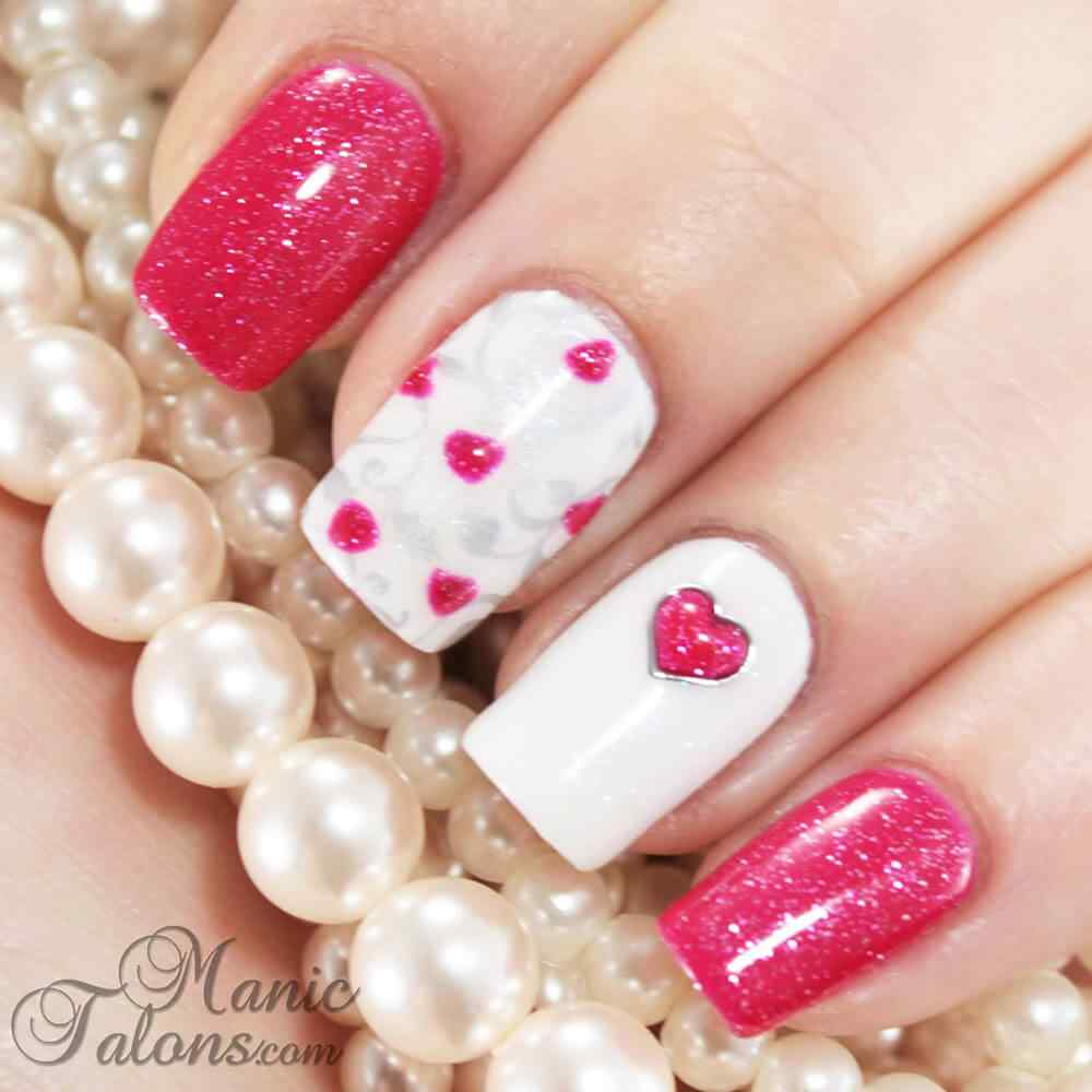 heart nail art (1)