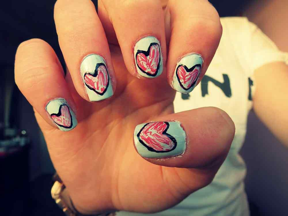 unas corazones amor dia enamorados (4)