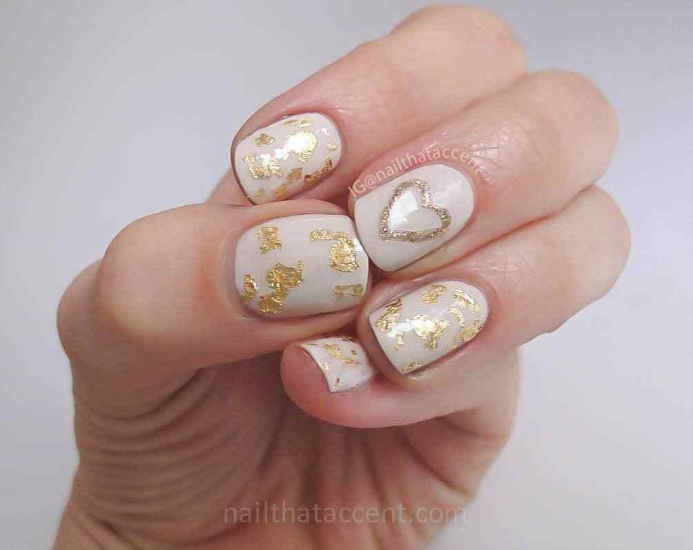 unas pintadas con corazones nail art (5)