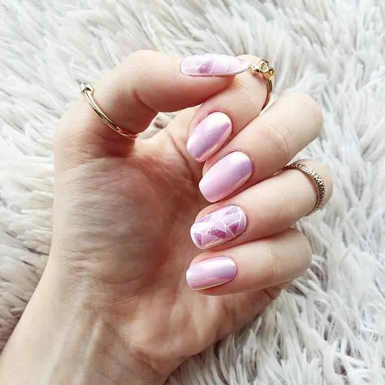 uñas rosadas para 15