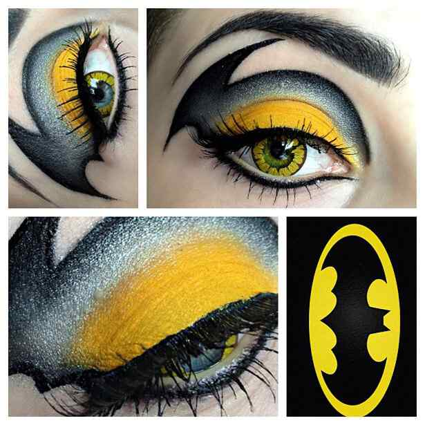 maquillaje ojos halloween batman