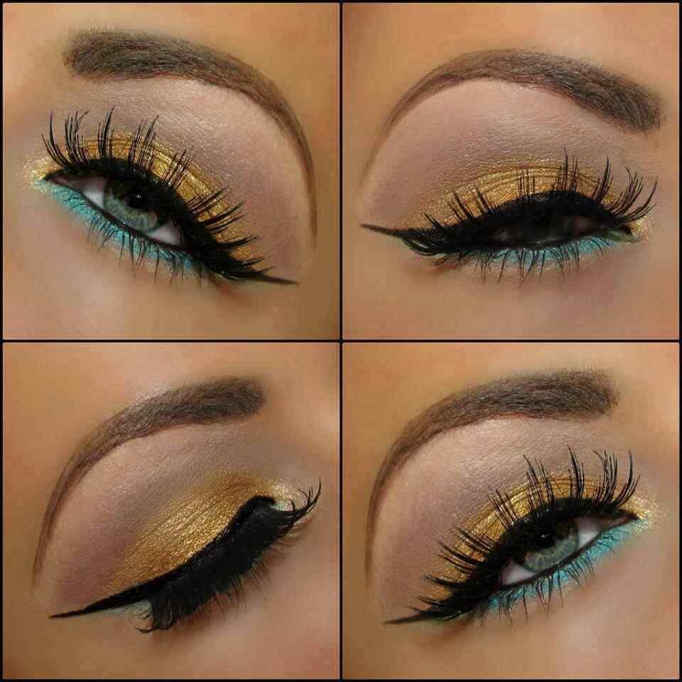 Makeup-Dorado-y-Verde-agua