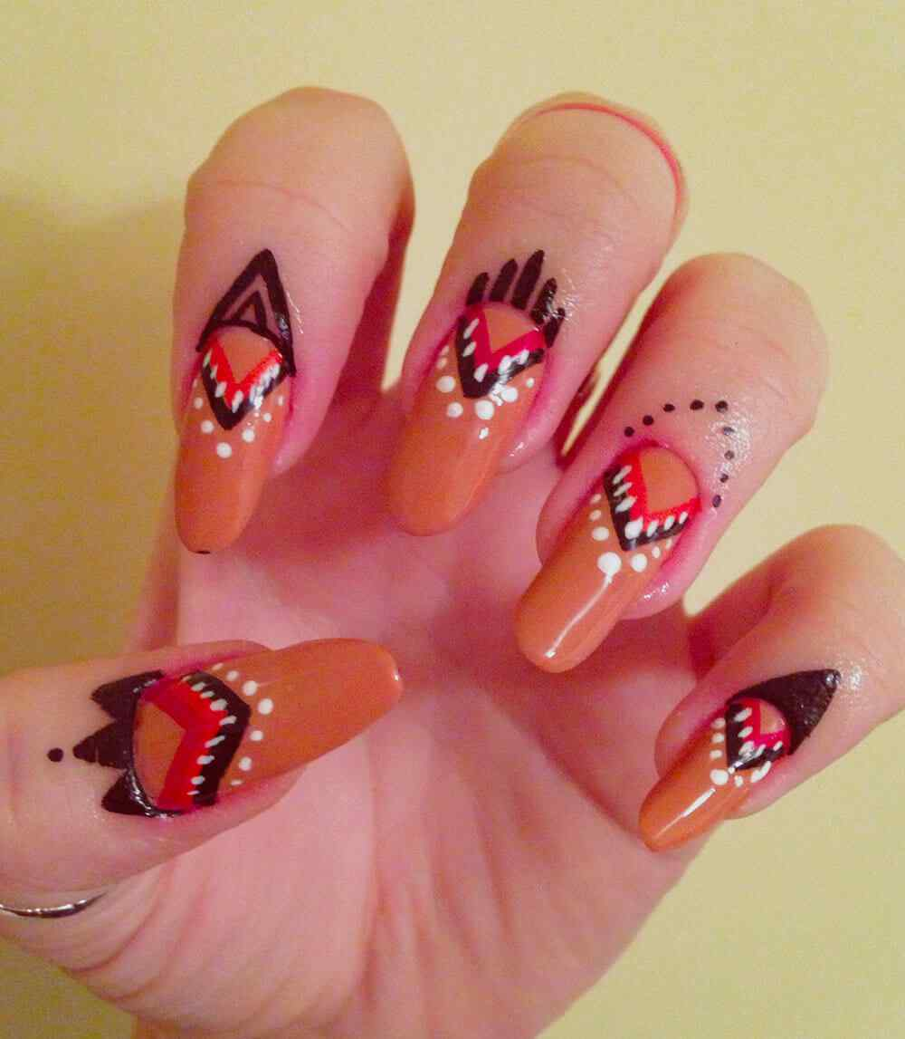 cuticle tattoo nail art (12)