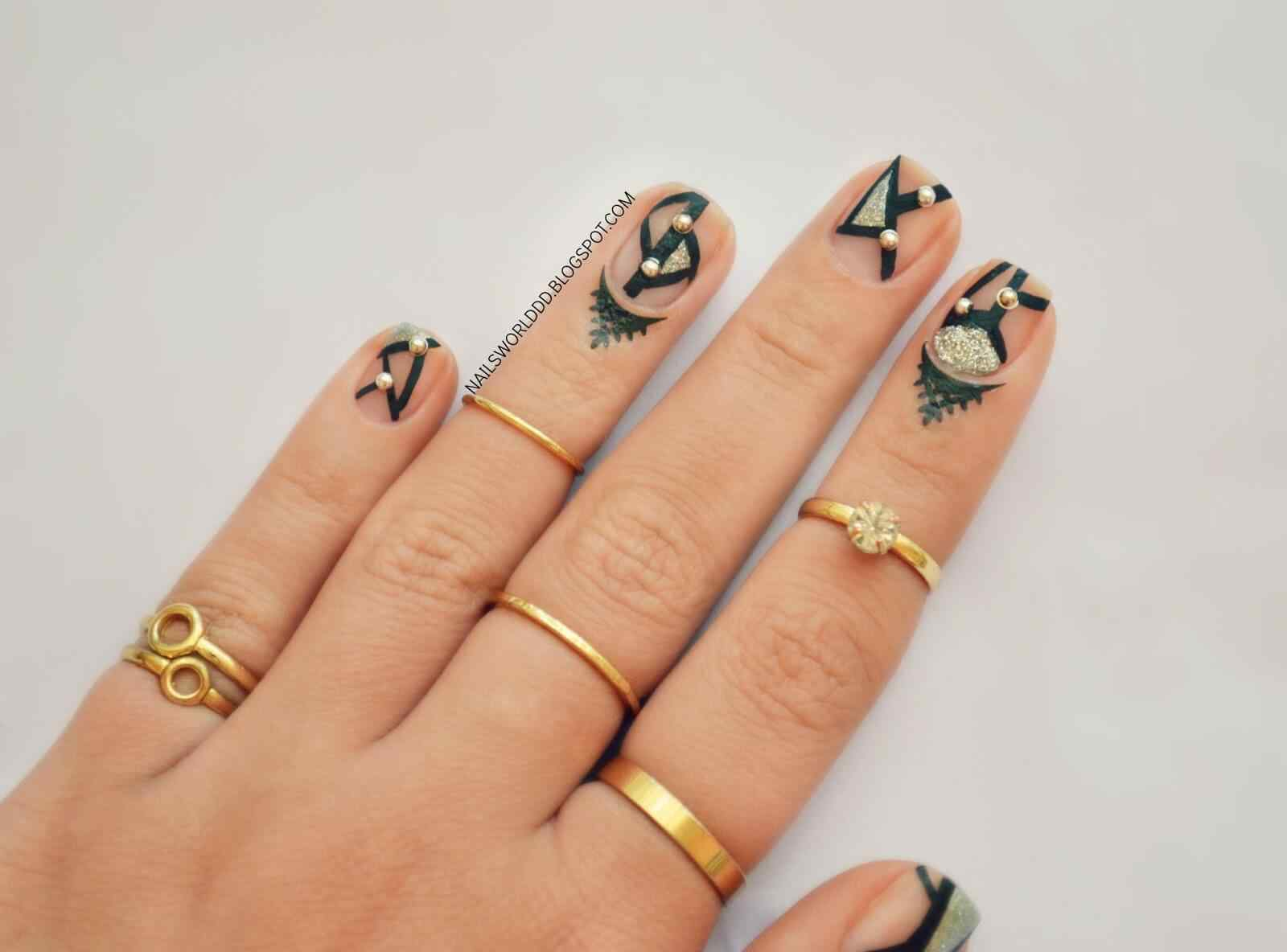 cuticle tattoo nail art (5)