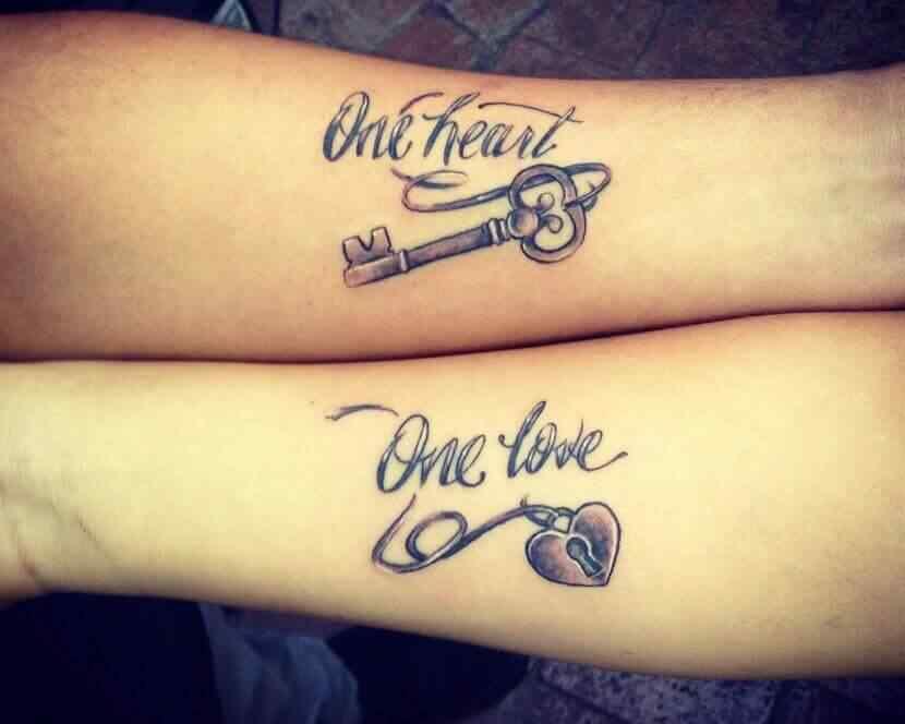 tatuaje con frases para parejas