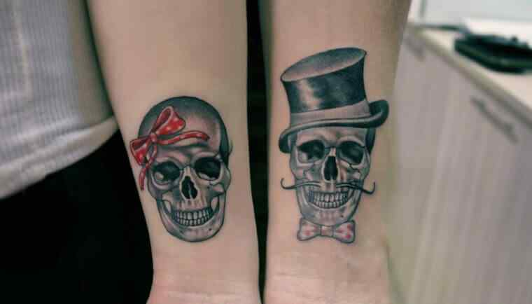 tatuaje de calaveras para parejas