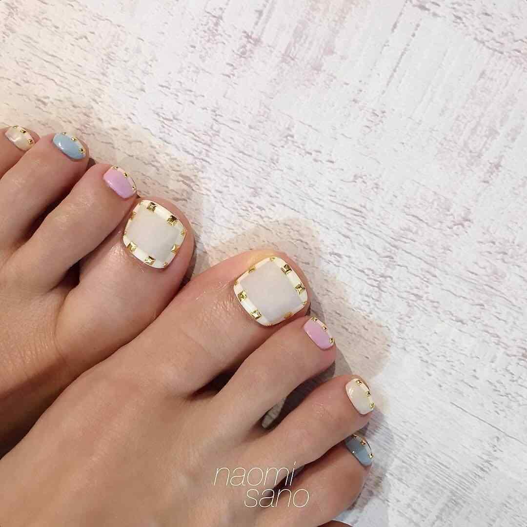 uñas invierno simples para el pie