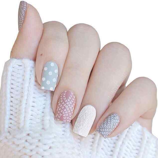uñas simples de invierno