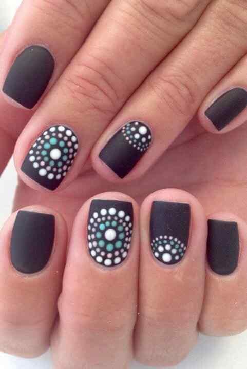 matte nail art (1)