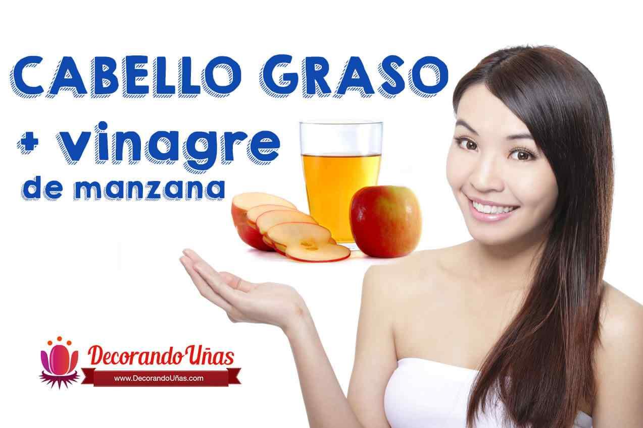 Lavar cabello graso con vinagre de manzana