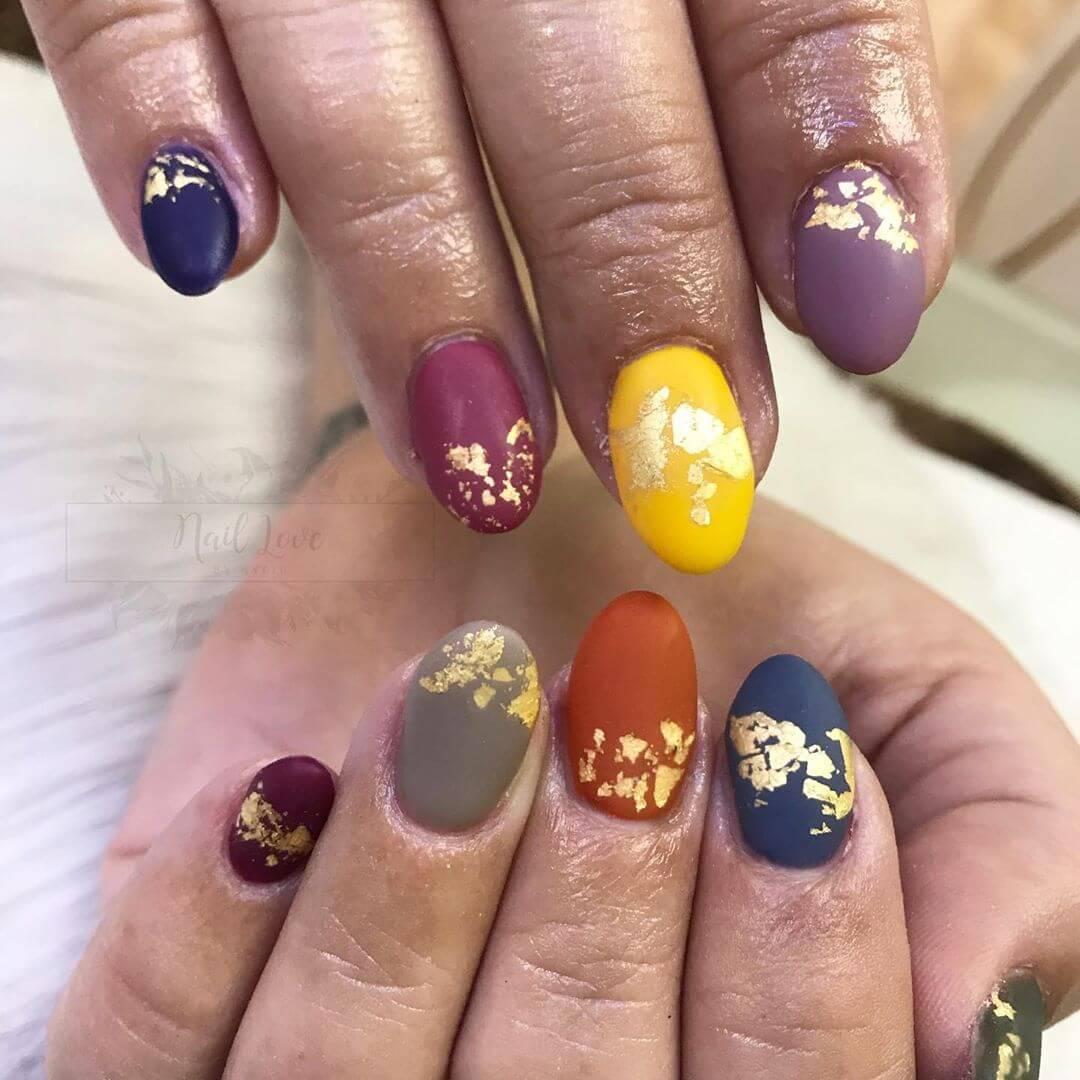 uñas mate de colores