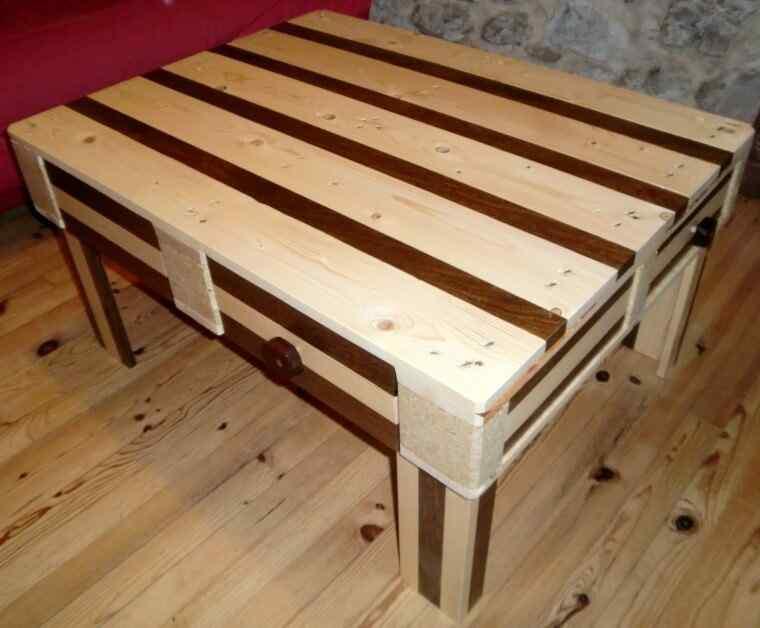 mesa de living palets