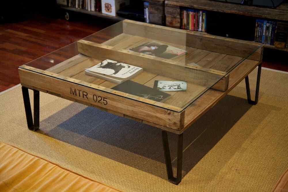M s de 60 ejemplos de muebles hechos con palets u as - Mesas para el salon ...