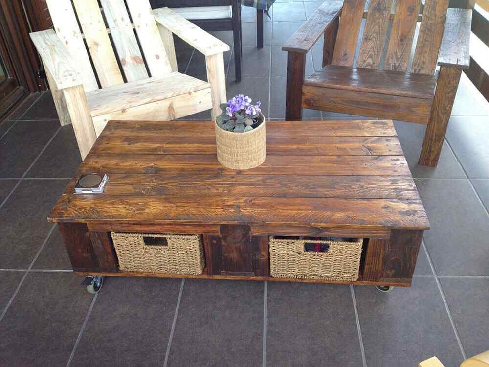 M s de 60 ejemplos de muebles hechos con palets for Cosas hechas con madera