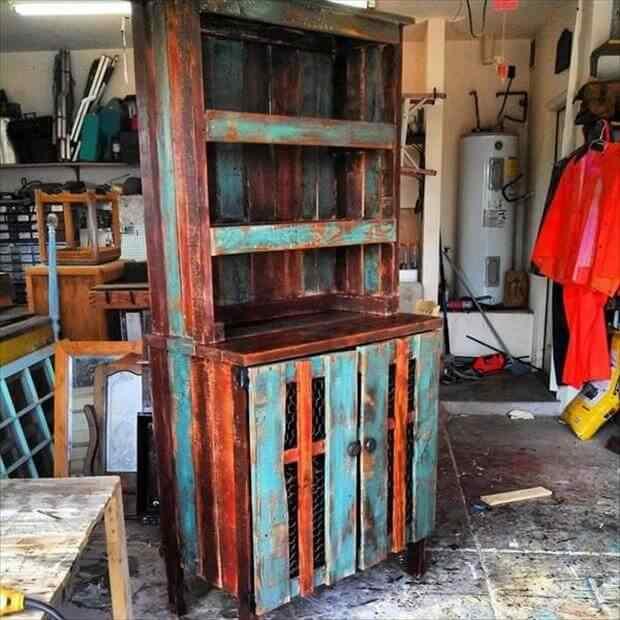 mueble rustico con palet