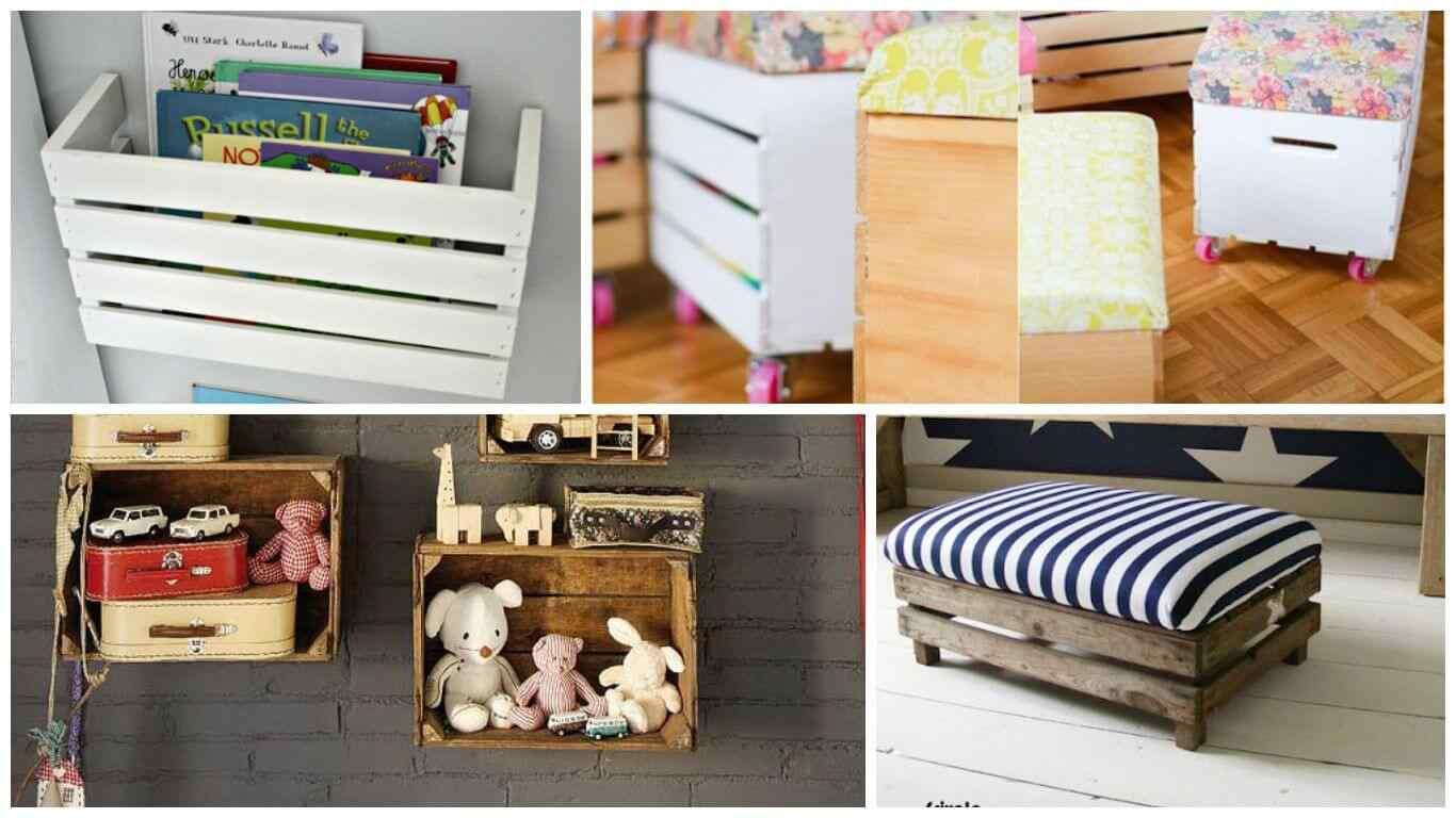 Muebles hechos con cajas de frutas ideales para cuartos infantiles - Como reciclar muebles ...