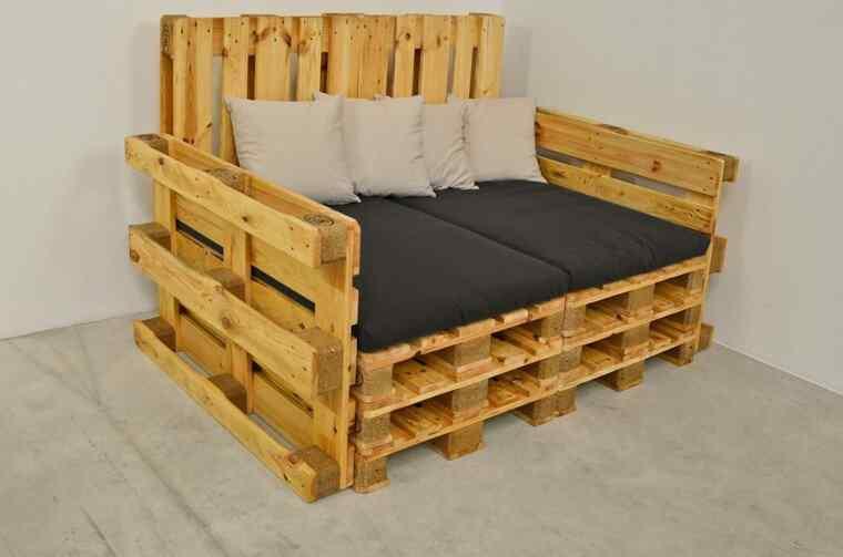 Más de 60 ejemplos de muebles hechos con palets  Decoración de